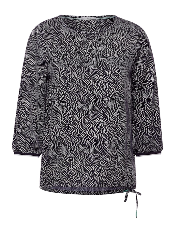 Cecil Bluse mit Zebra-Print, carbon grey