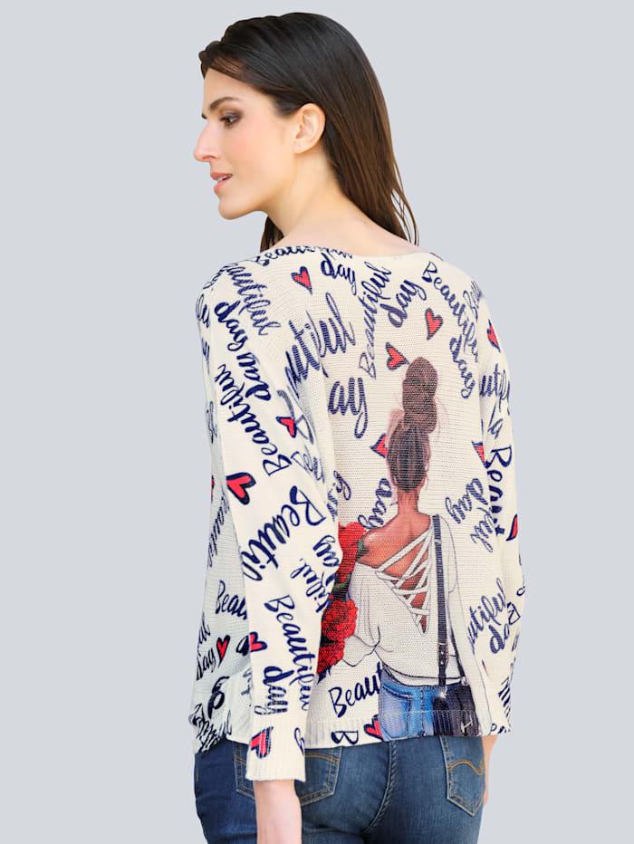 Pullover mit ausgefallenem Print allover