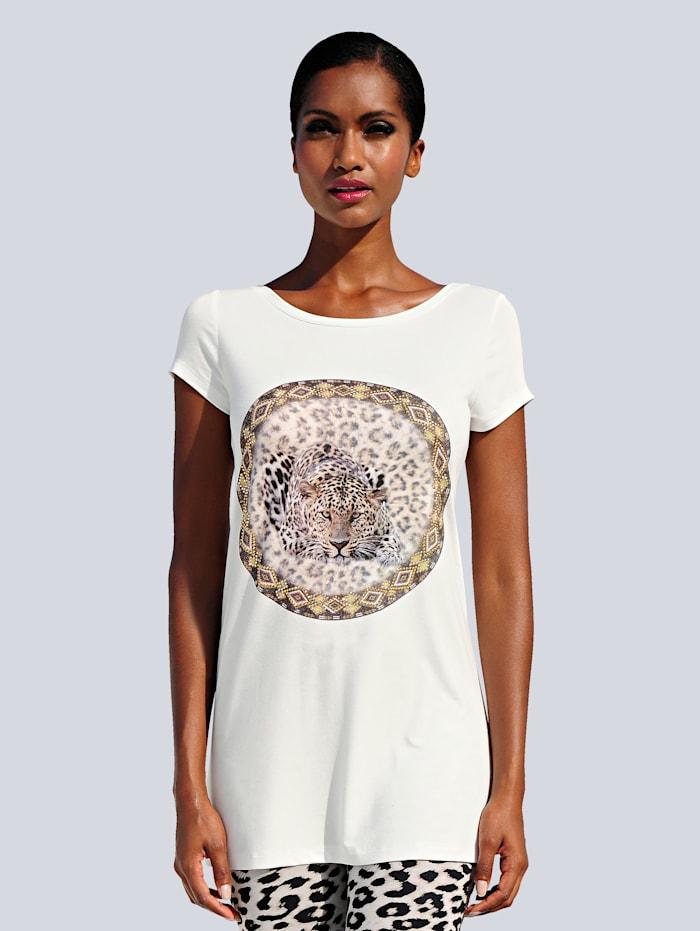 Alba Moda Shirt met siersteentjes, offwhite