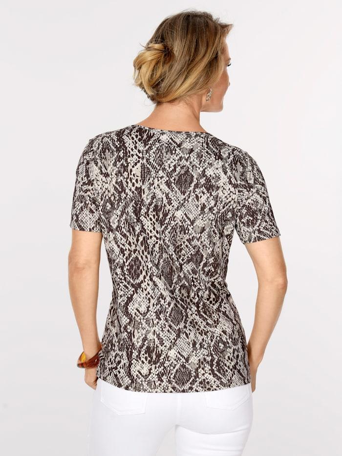 T-shirt à motif reptile