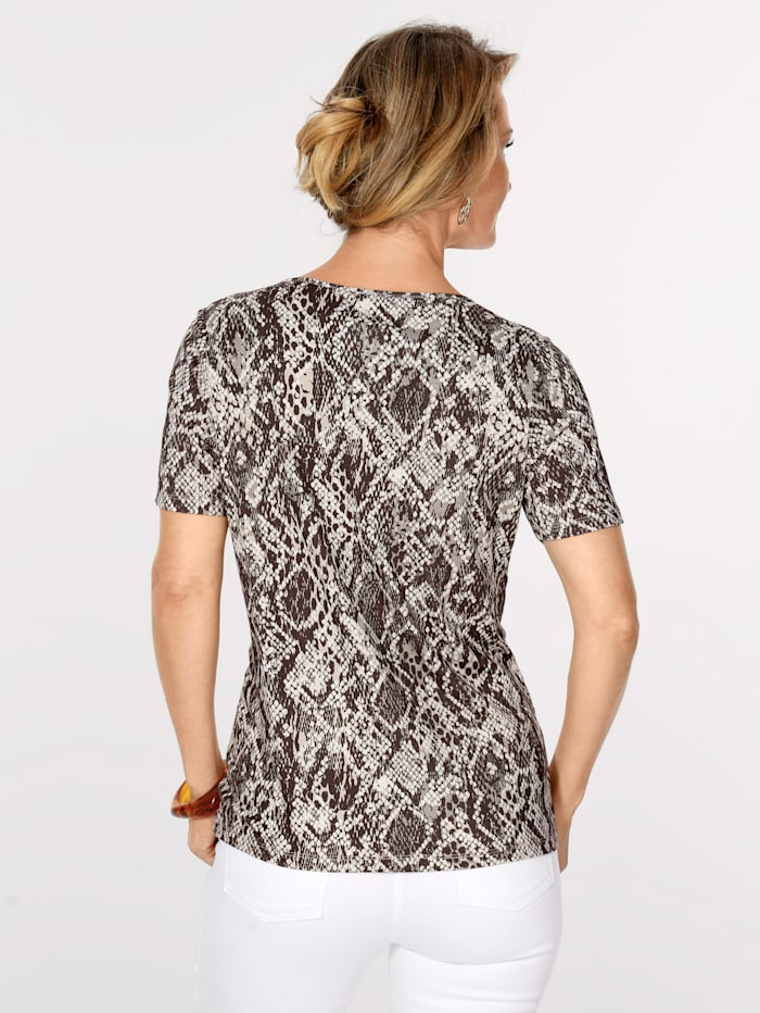 Top in an on-trend snake print