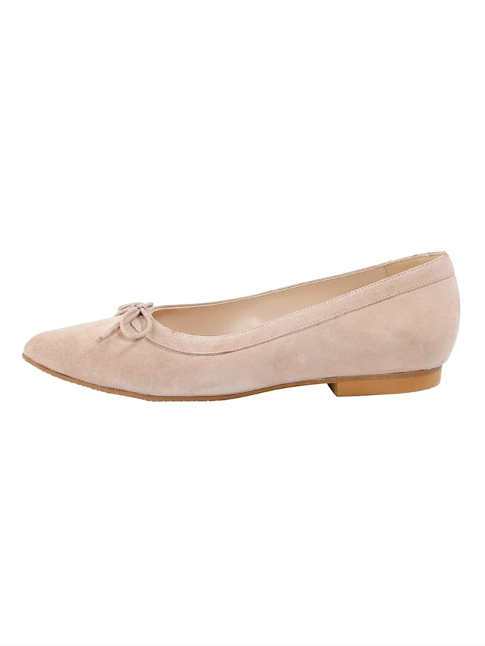Ballet pumps in a beautiful suede