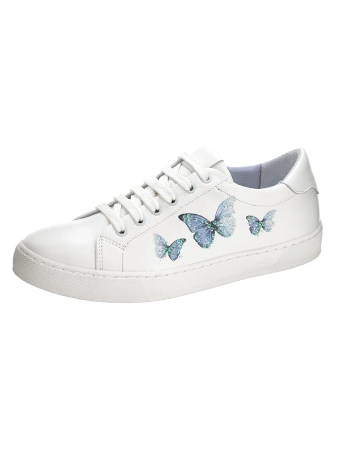 Sneakers – fjärilar med paljetter, Vit
