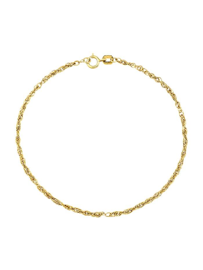Bracelet maille cordon en alliage or jaune 333 ou en or 585, Coloris or jaune