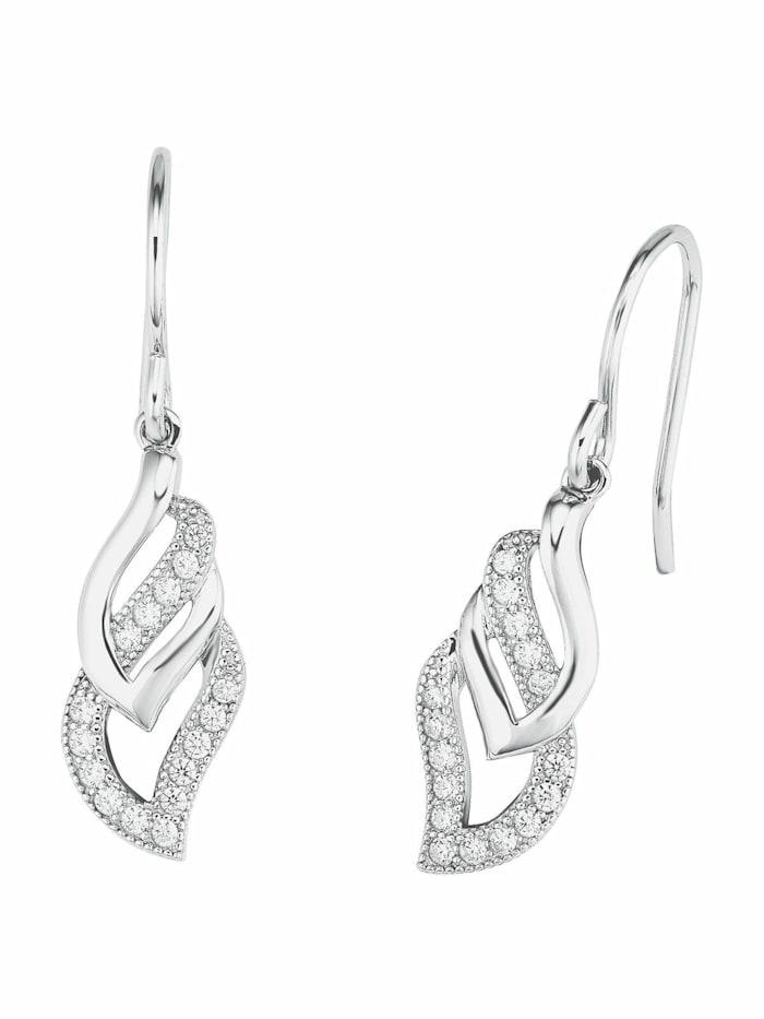 amor Ohrring für Damen, Sterling Silber 925, Zirkonia, Silber
