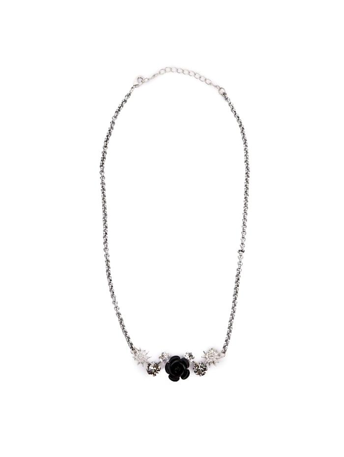 Allgäu Rebell Trachtenkette Rosa mit echten Swarovski® Steine, schwarz
