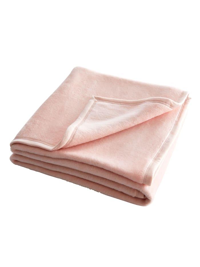 Webschatz Pledd i lekre farger, rosa