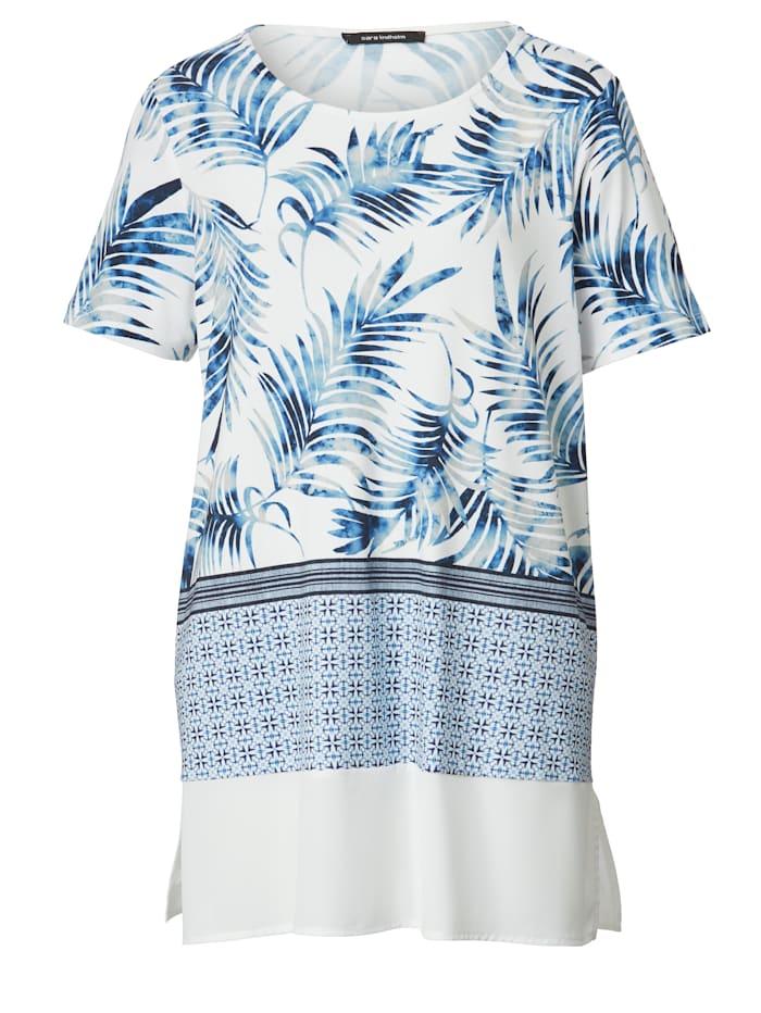 Shirt met bladerendessin