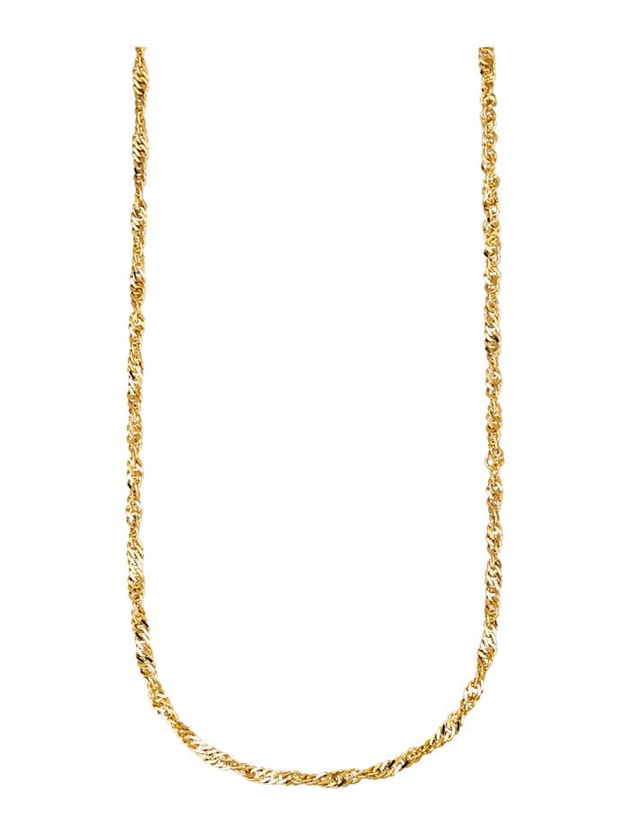 Diemer Gold Singapurkette in Gelbgold 585, Gelbgoldfarben