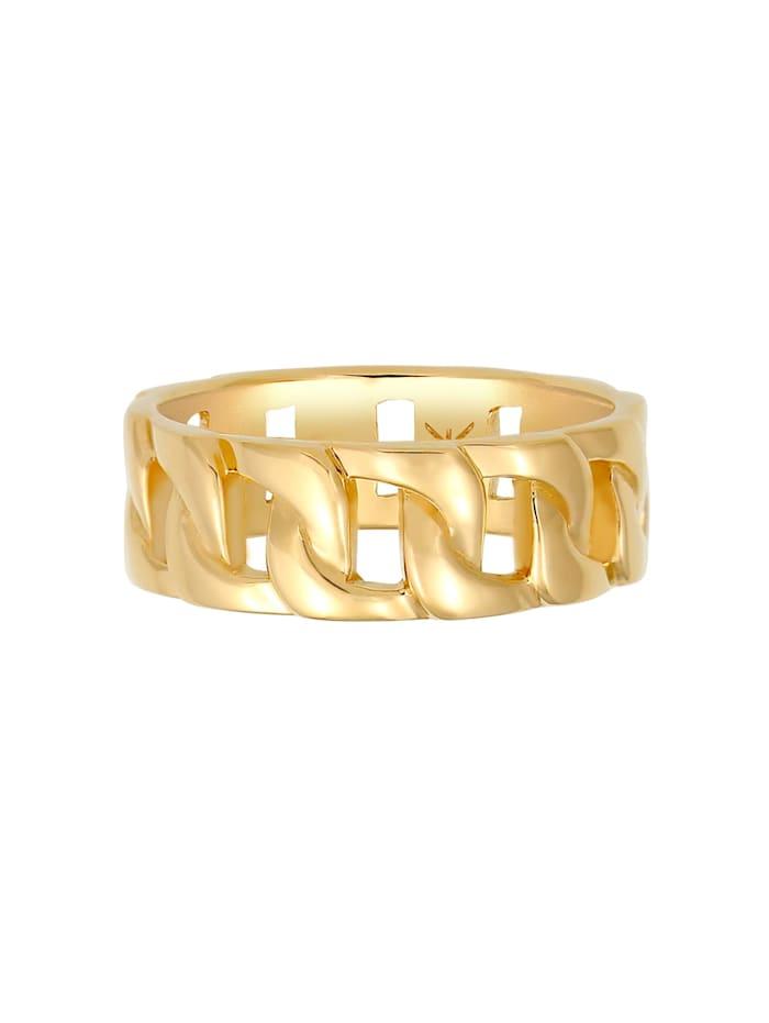 Ring Herren Chunky Chain Look Kette Gllieder 925 Silber