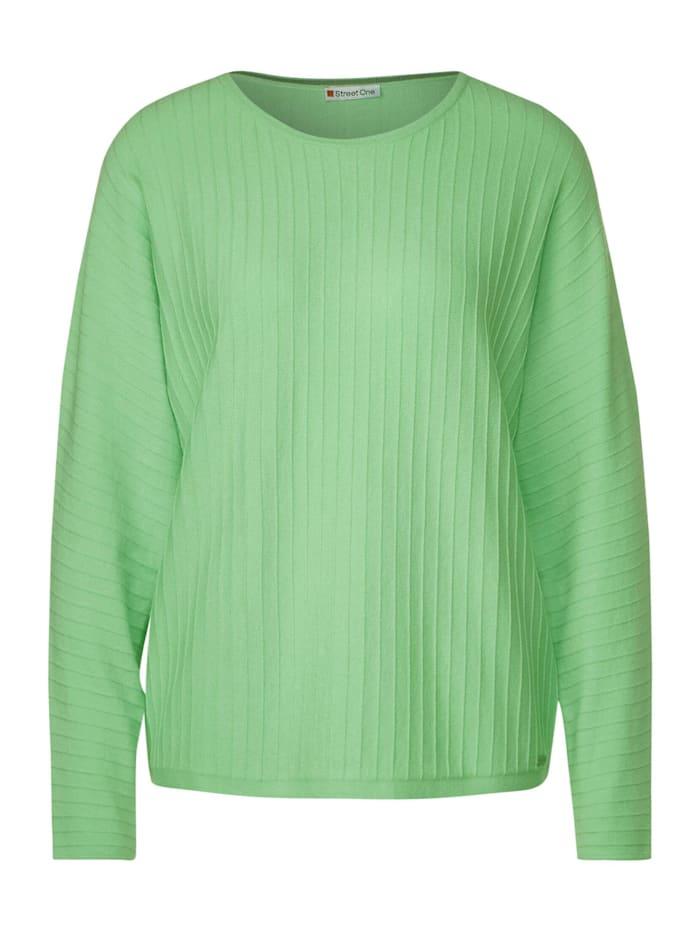 Street One Pullover mit Dolmanärmeln, green mint