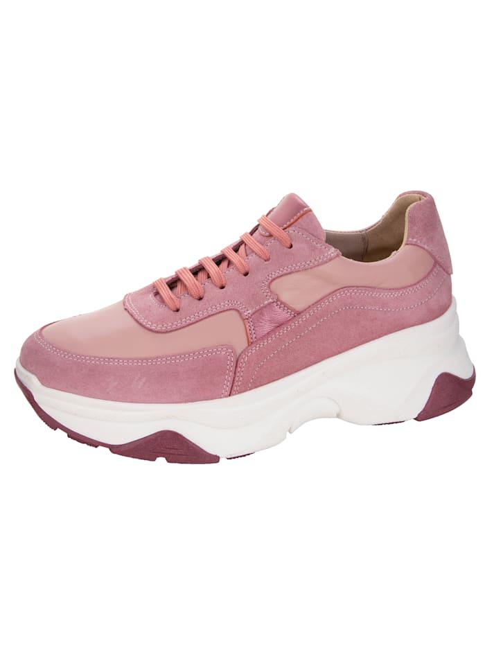 Sneaker van een mooie leermix, Roze
