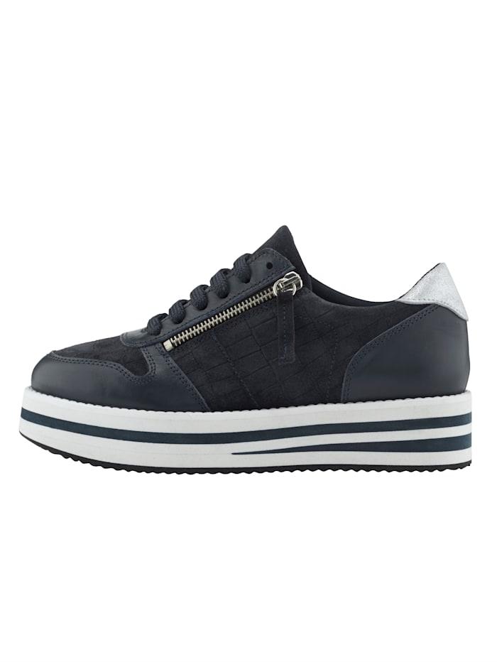 Sneaker in modieuze krokolook