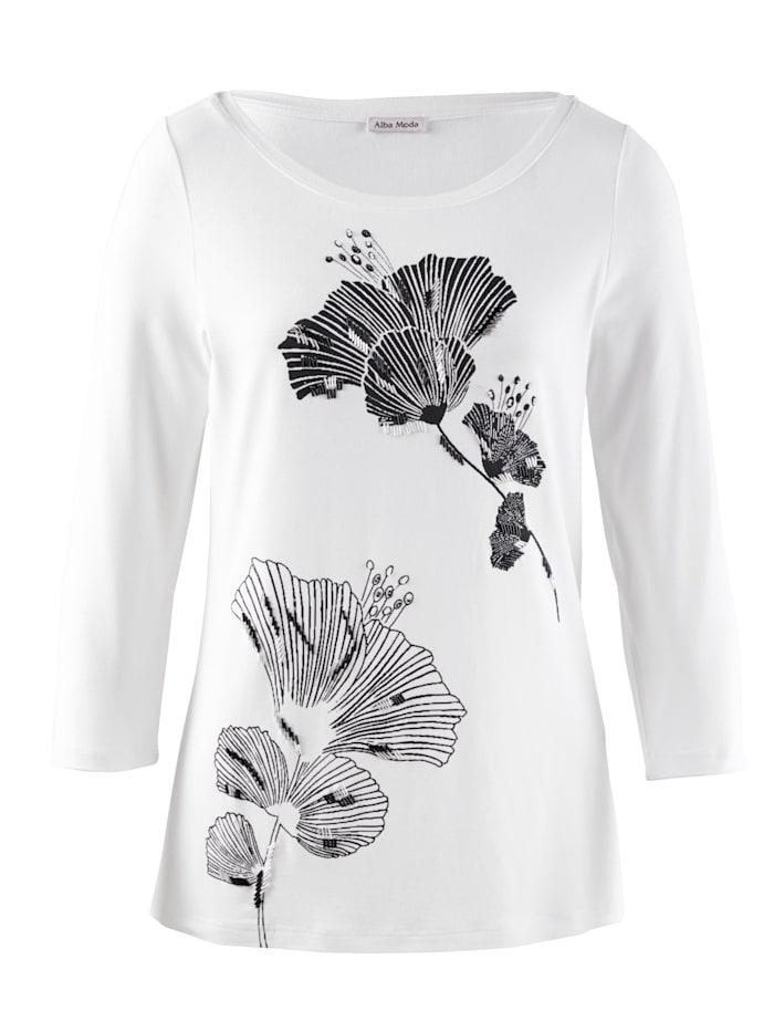 Shirt mit exklusivem Alba Moda Print