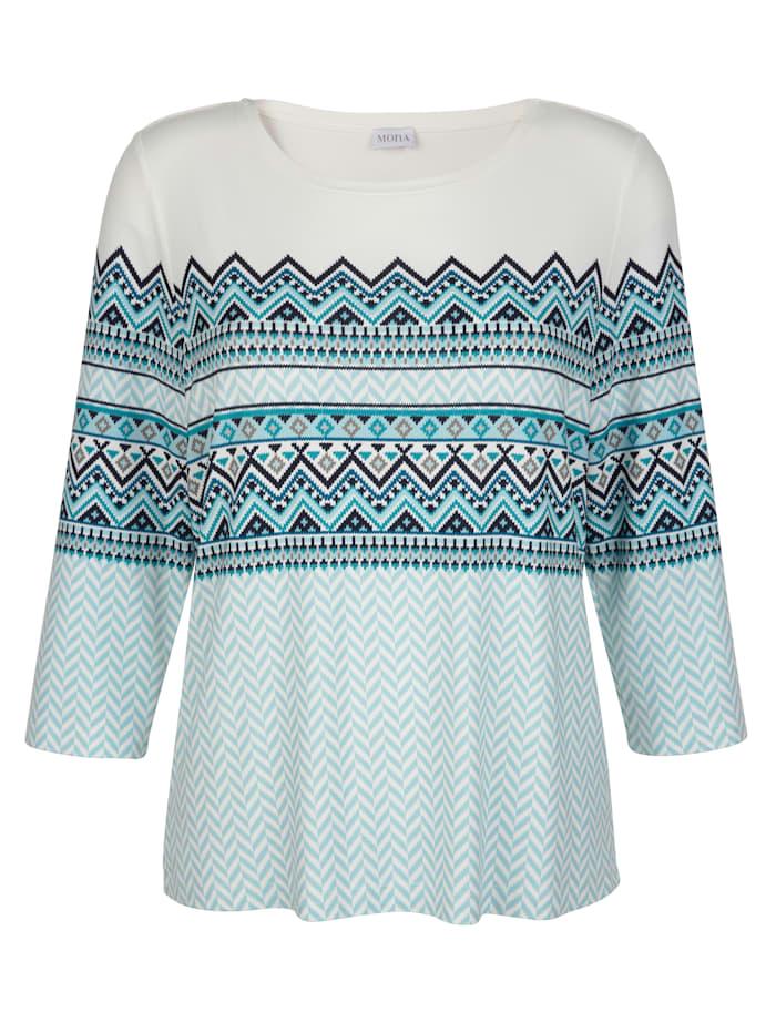Tričko s nórskym vzorom