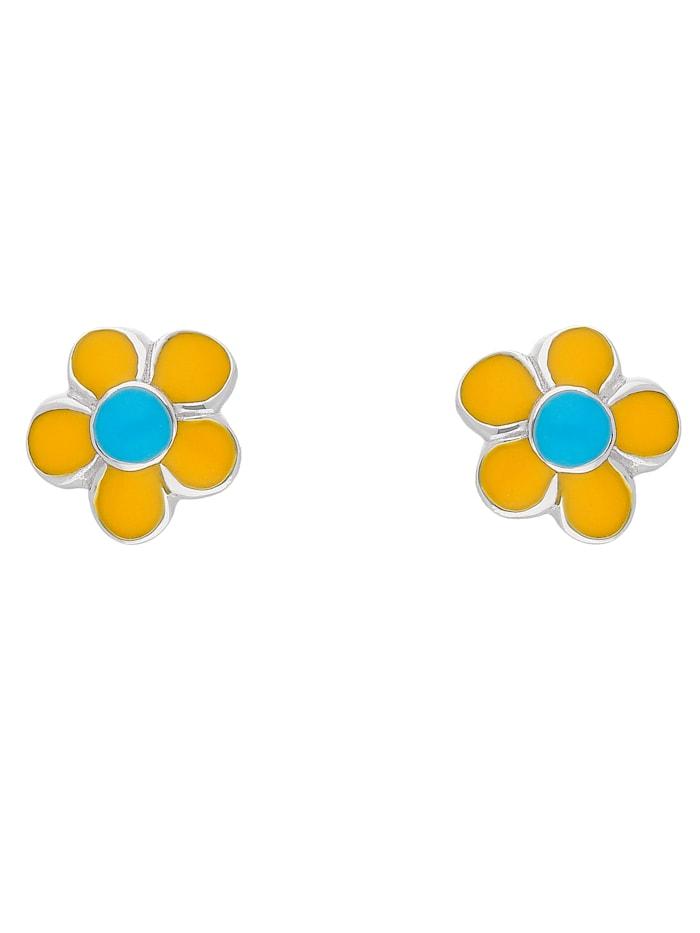 1001 Diamonds 1001 Diamonds Damen Silberschmuck 925 Silber Ohrringe / Ohrstecker Blüte - gelb, silber