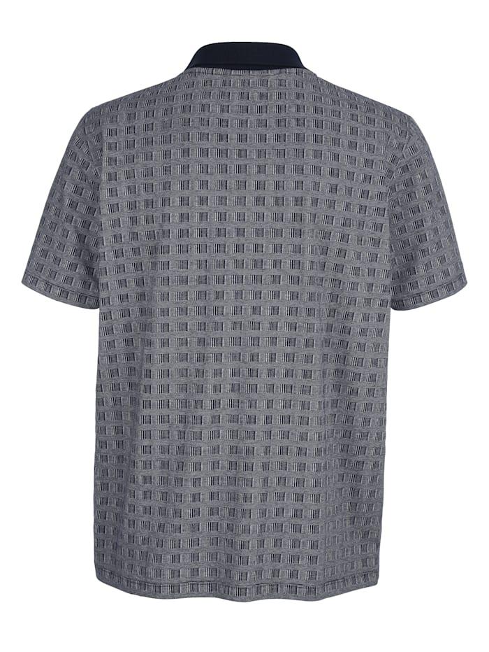 Poloshirt mit Allover-Jacquardmuster