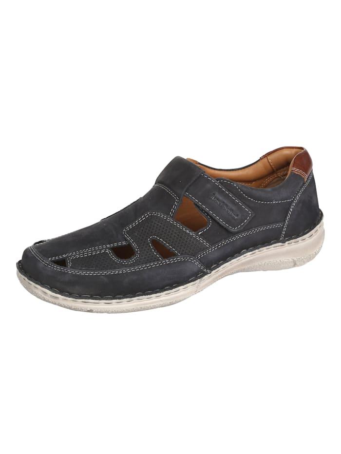 Josef Seibel Slipper obuv s kontrastným prešívaním, Námornícka