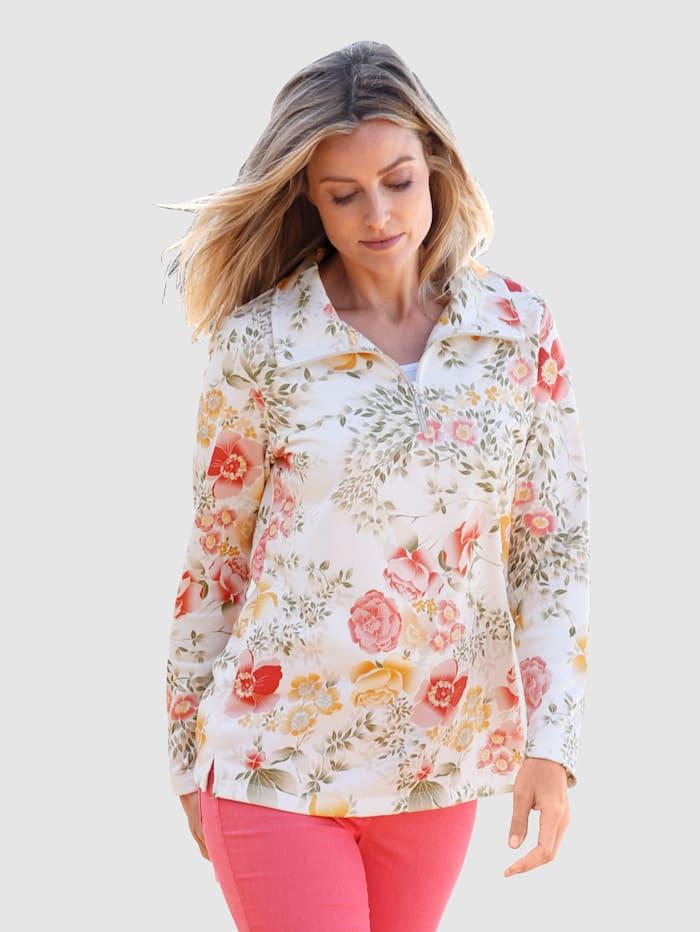 basically you Sweatshirt mit floralem Design, Weiß