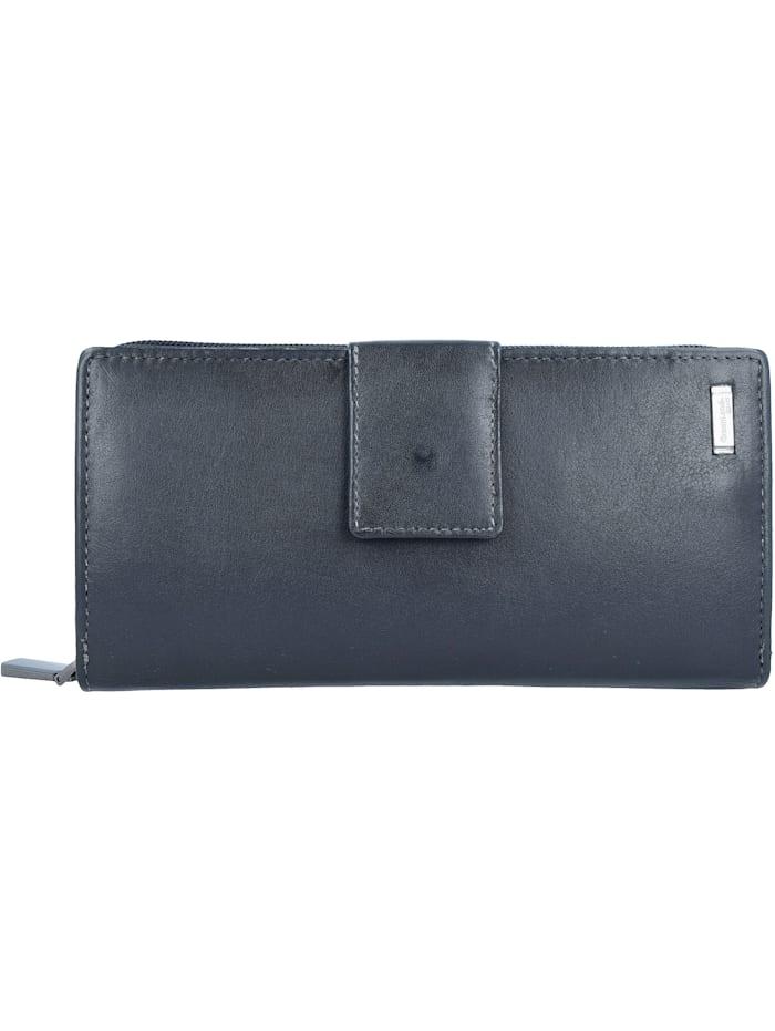 Greenland Black Nappa Geldbörse RFID Leder 20 cm, black