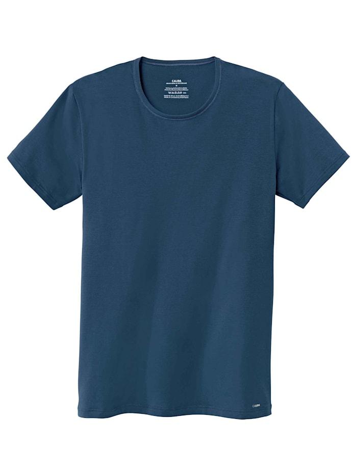Calida T-Shirt, Rundhals Ökotex zertifiert, blue wing teal