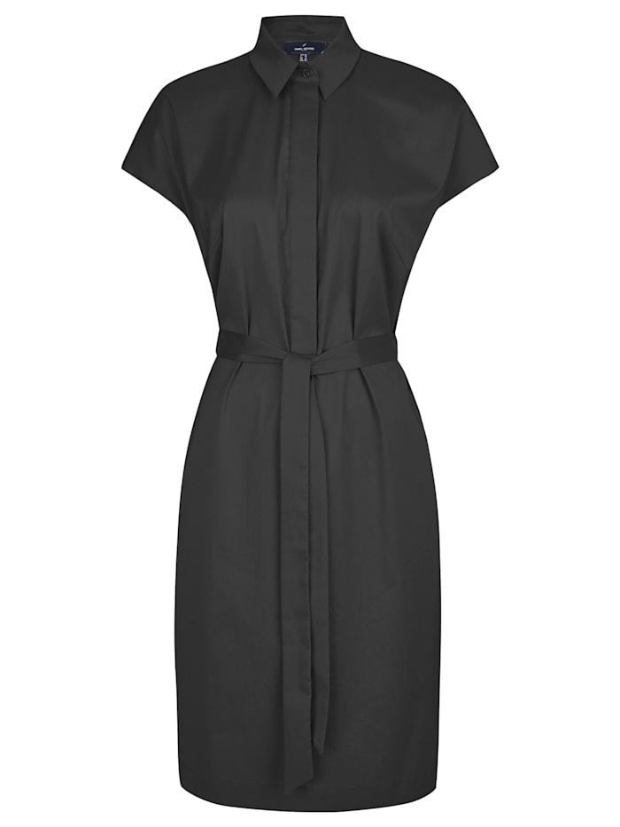 Daniel Hechter Modisches Kleid mit Gürtelschleife, Black