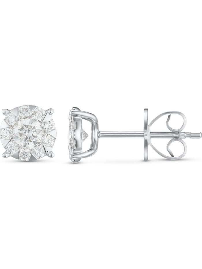 CHRIST Damen-Ohrhänger 585er Weißgold 20 Diamant