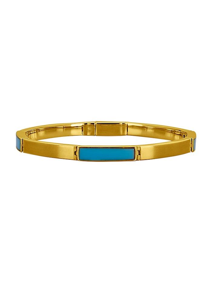Diemer Farbstein Armband mit Türkisen, Türkis