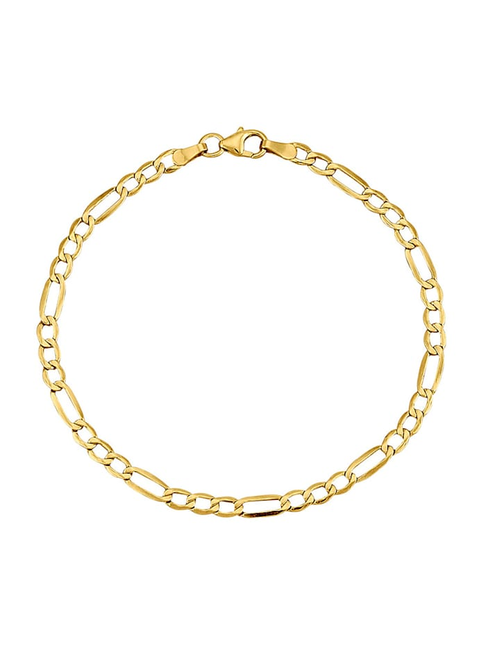 Figaroarmband diamantiert, Gelbgoldfarben