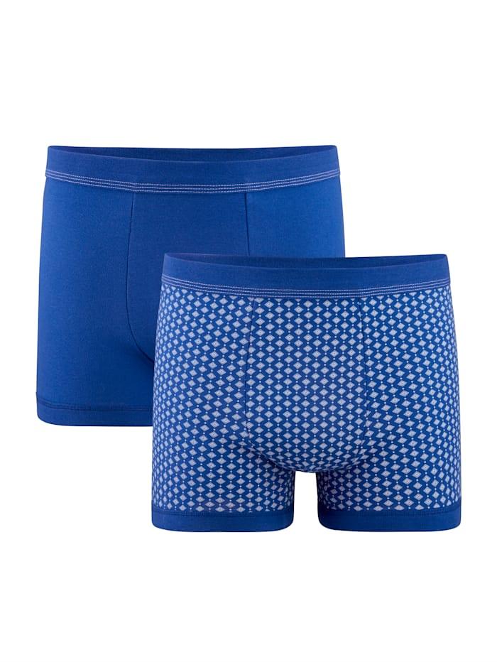 Boxers, Bleu roi/Blanc