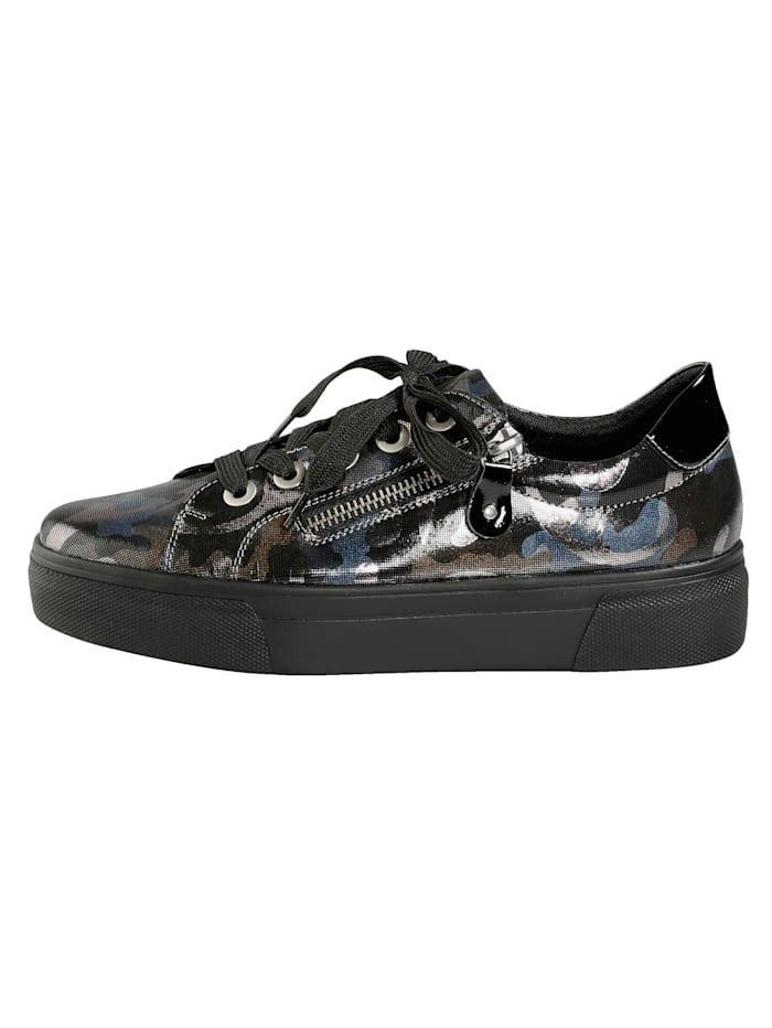 Sneaker met trendy camouflageprint