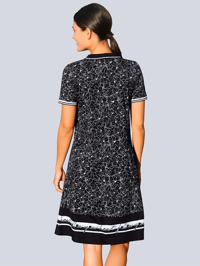 Džersej šaty s exkluzívnou Alba Moda potlačou
