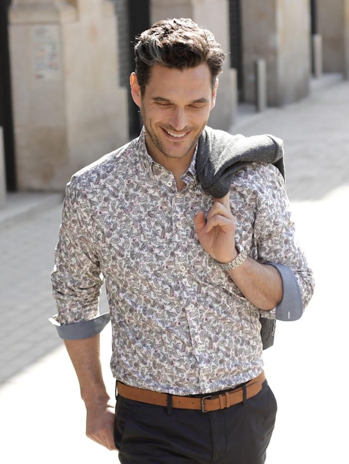 BABISTA Hemd mit modischem Paisley-Muster, Weiß/Grau/Rosé