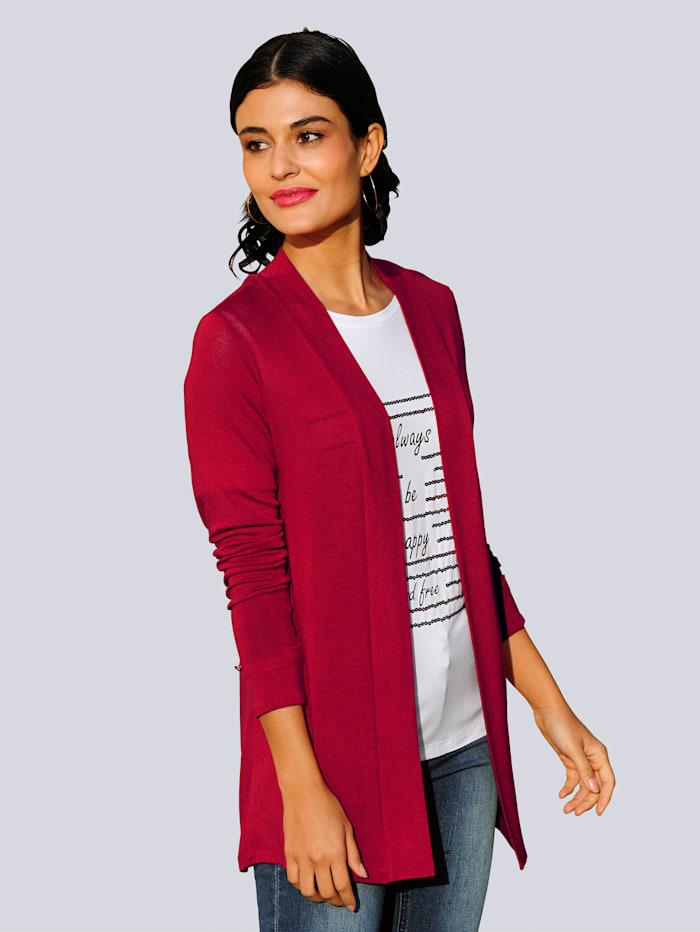 Alba Moda Shirtjacke in sommerlicher Qualität, Rot