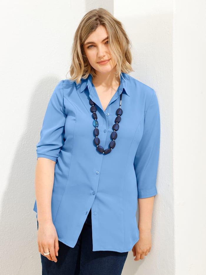 m. collection Bluse in pflegeleichter Qualität, Blau