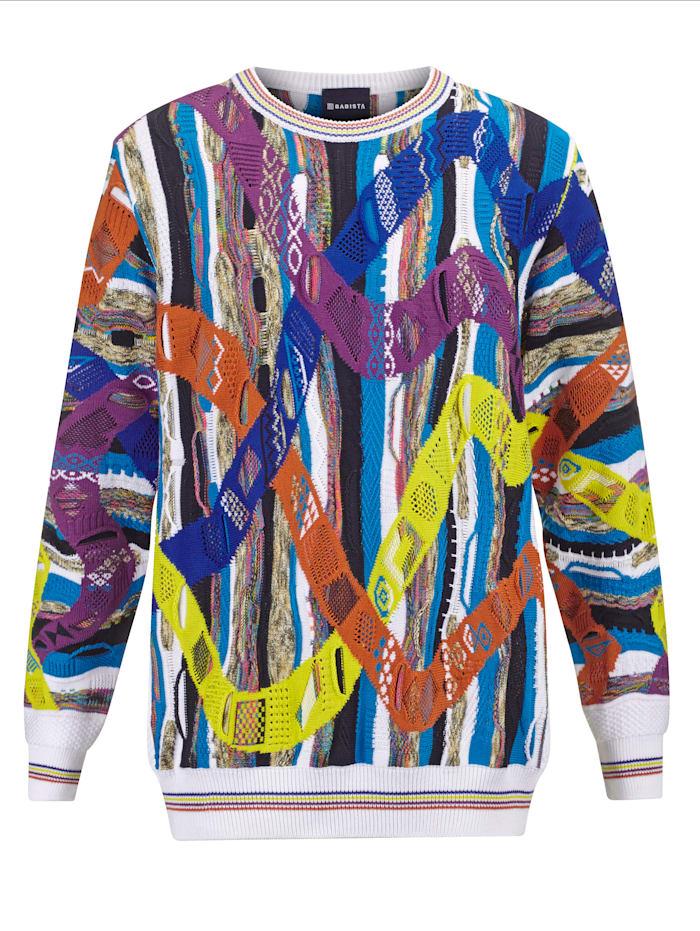BABISTA Trui met bijzondere 3D-structuur, Multicolor