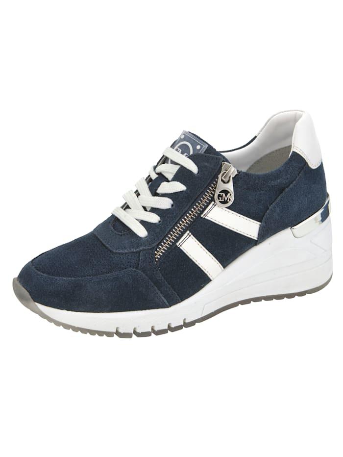 Marco Tozzi Keilsneaker mit dezenter Perforation, Marineblau