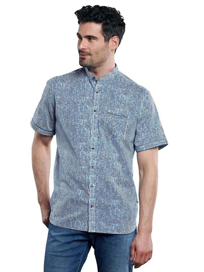 Engbers Kurzarmhemd aus Leinen, Indigoblau