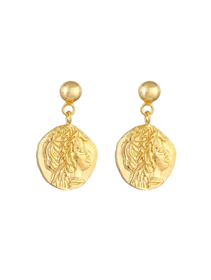 Ohrringe Stecker Coin Münze Antikes Design 925 Silber