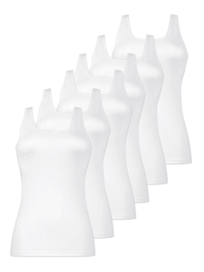Naturana 6er Sparpack Damen Unterhemd, Weiss
