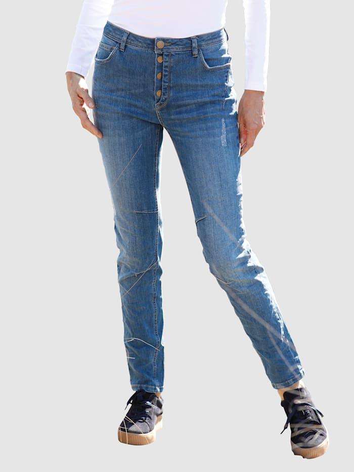 Dress In Jeans in Boyfriendstyle, Blau