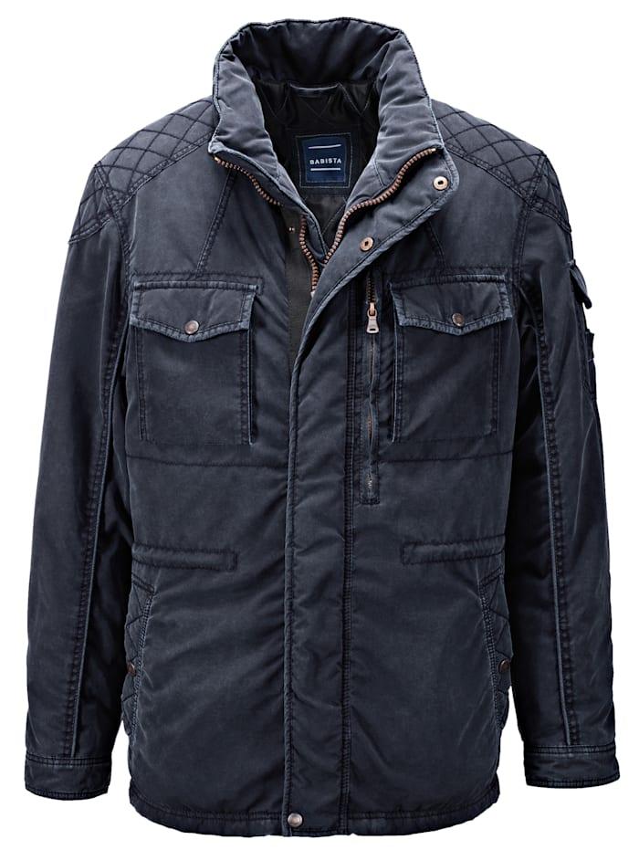 BABISTA Jacke in vorgewaschener Qualität, Marineblau