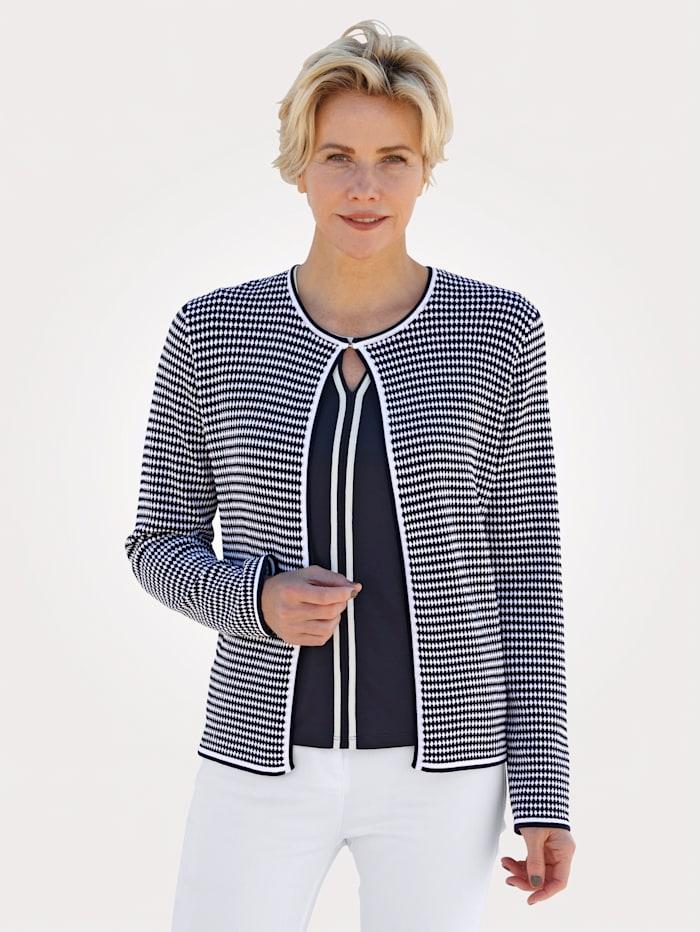 Barbara Lebek Cardigan, Marineblau/Weiß