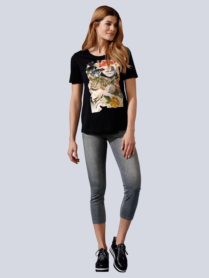 CAMBIO Jeans mit tollem Schmuckband, Grey