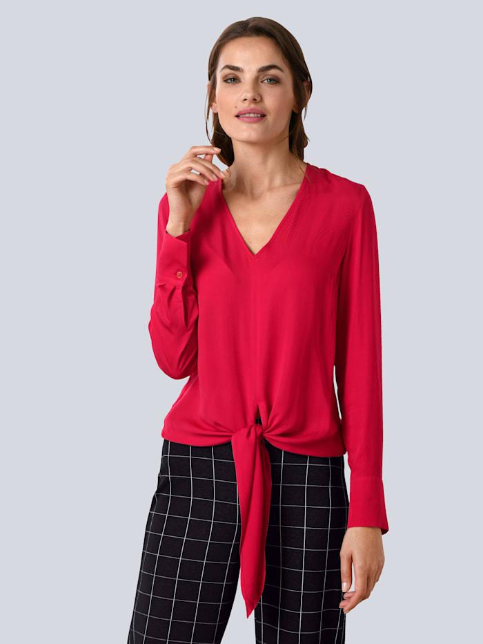 Alba Moda Bluse mit modischem Knoten, Rot