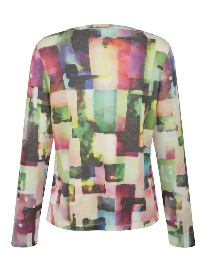Pullover mit grafischem Druck allover