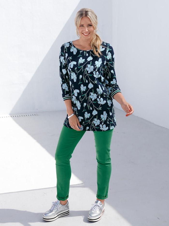 Shirt mit Strickbündchen am Armabschluss