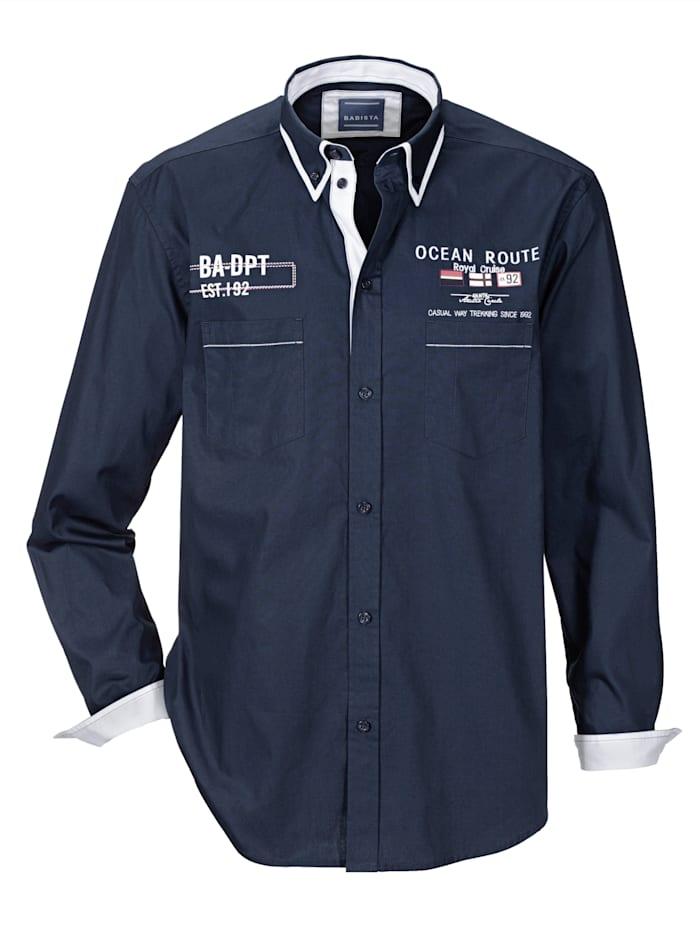 BABISTA Hemd mit Doppelkragen, Marineblau