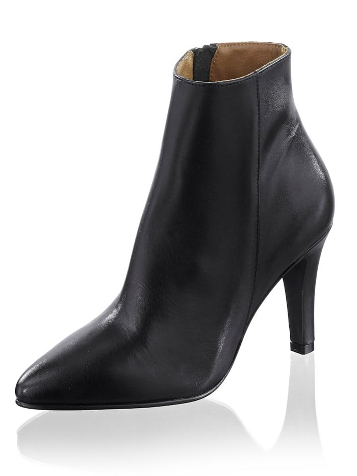 Alba Moda Enkellaarsje in elegante style, Zwart