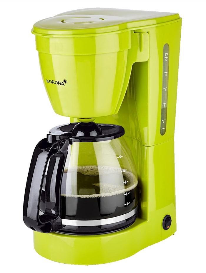 Korona Machine à café 10118, pour 12 tasses, verte, Vert